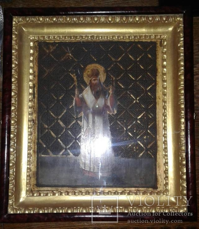 Св. чудотворец Василий Великий. 41 х 46см.