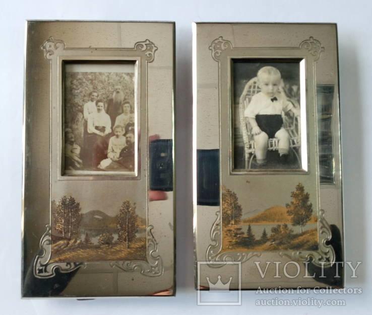 Оригинальные рамки для фото Златоуст (с фотографиями). Позолота. 2 шт одним лотом.