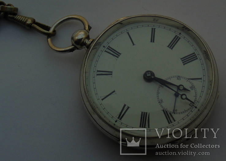 Старинные серебряные часы Waltham mass