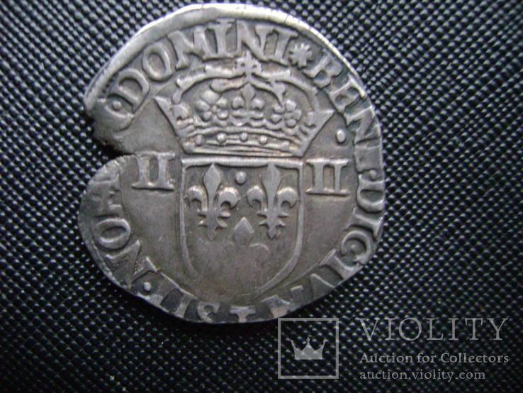 Карл 10 Король Лиги,1\4 Экю,1590г.