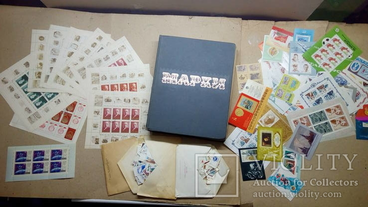 Огромный лот марок, блоков и листов