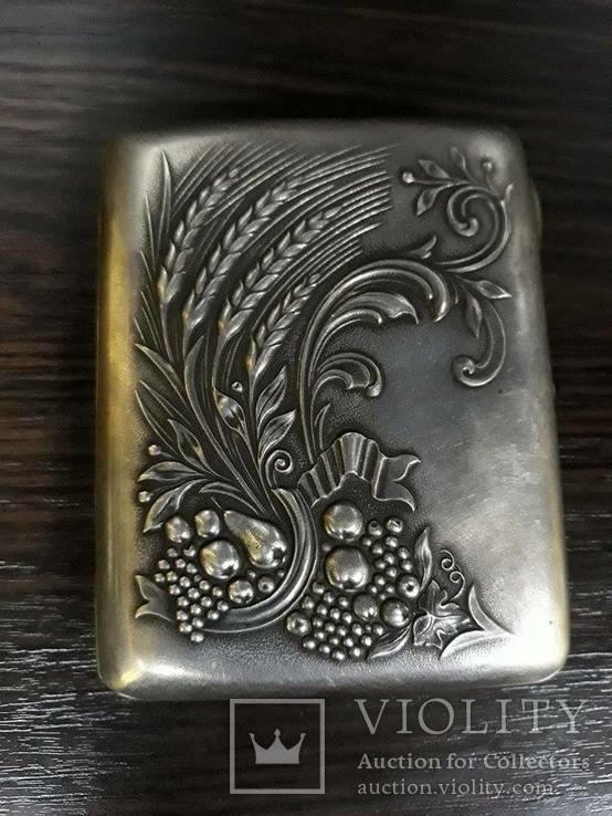 Портсигар серебряный 875 пробы