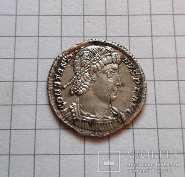 Константин II, милиарисий. Аквилея, 337 - 340.