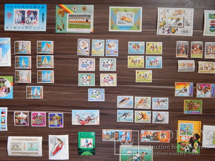 Блоки и марки- серии.Спорт.