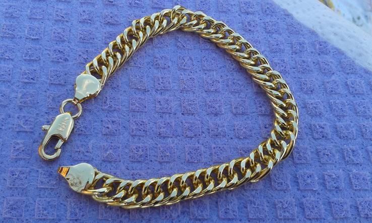 Стильный Мужской браслет ( 18 К ) Длинна 21 см