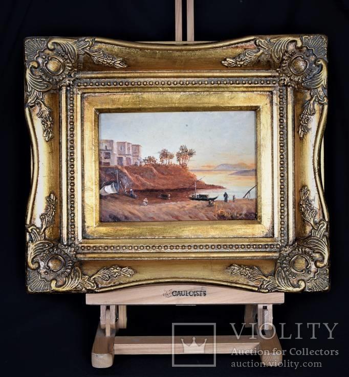 Картина Пейзаж Масло Подпись Рама. 1879 г.