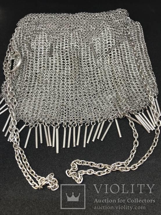 Серебреная театральная сумочка - кольчужка