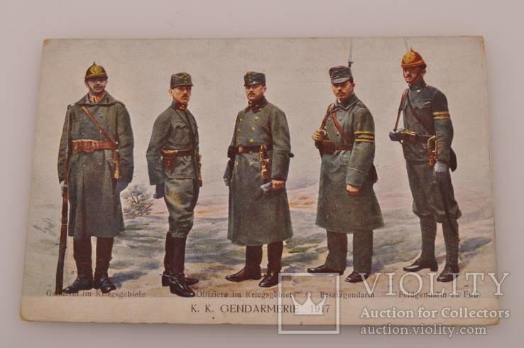 Открытка Жандармерия 1917 год Швеции., фото №2