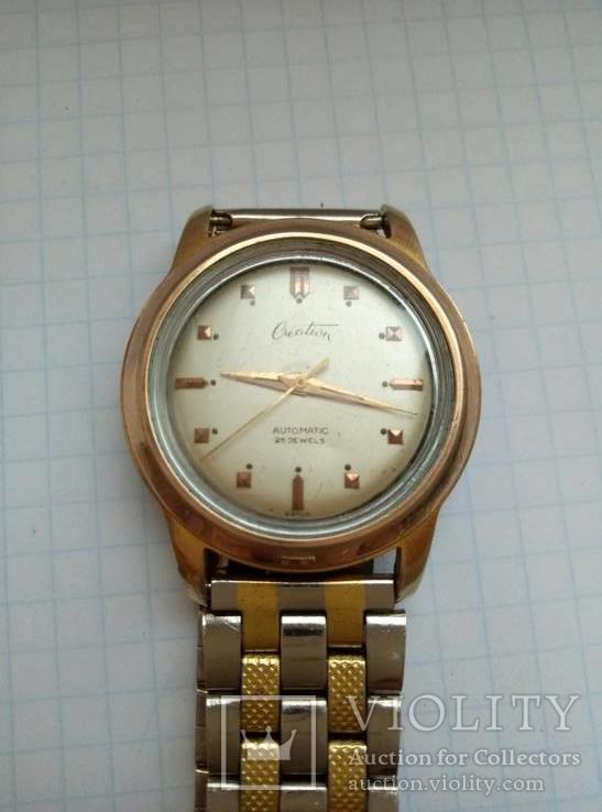 Часы Creation Швейцария 50х годов позолоченные