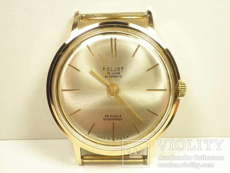 """Часы """"Poljot de luxе"""" позолота АУ20 (1)"""