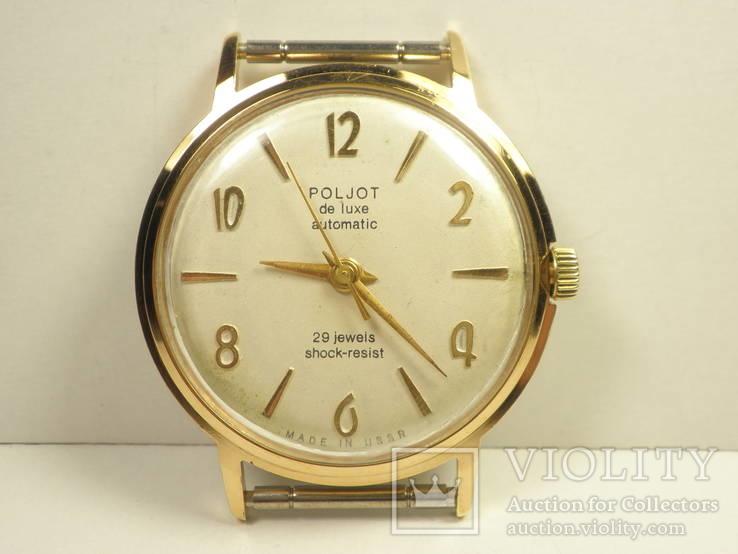 """Часы """"Poljot de luxе"""" позолота АУ20 (2)"""