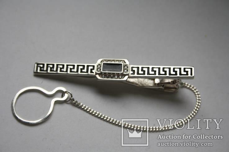 Серебряный зажим для галстука, фото №5