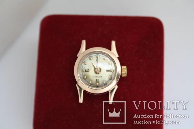 Золотые женские наручные часы, фото №2