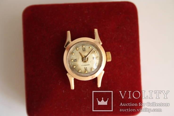 Золотые женские наручные часы, фото №6