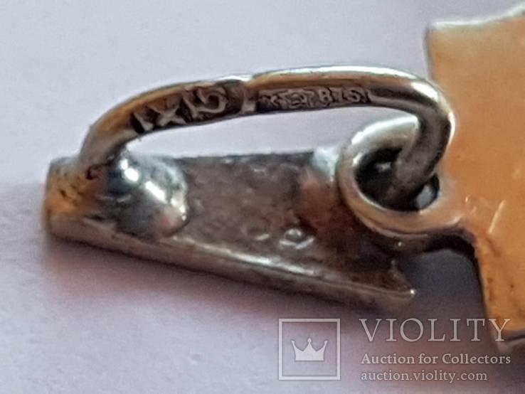 Кулон Серебро 875 прба СССР, фото №6