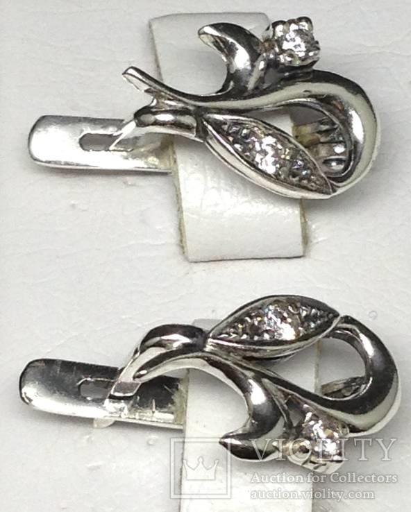 Кольцо, серьги, цирконы, фото №7