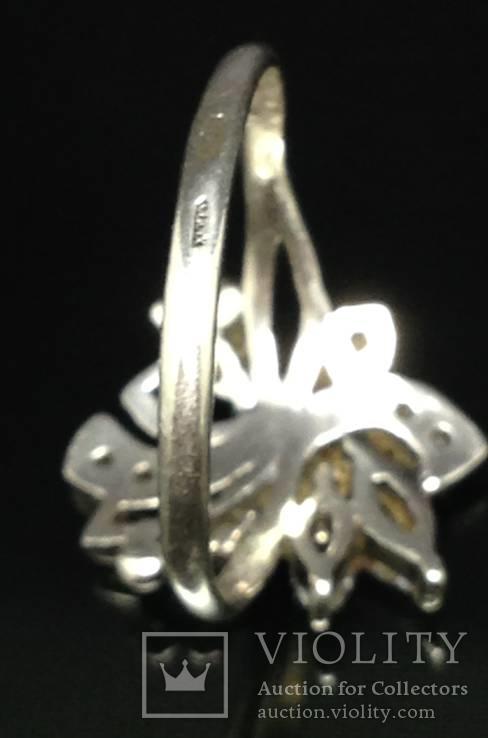 Кольцо, серьги, цирконы, фото №10