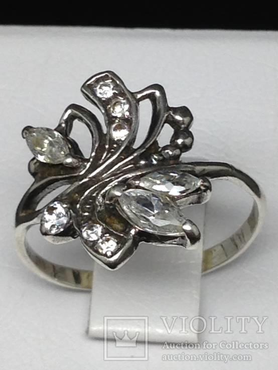 Кольцо, серьги, цирконы, фото №12