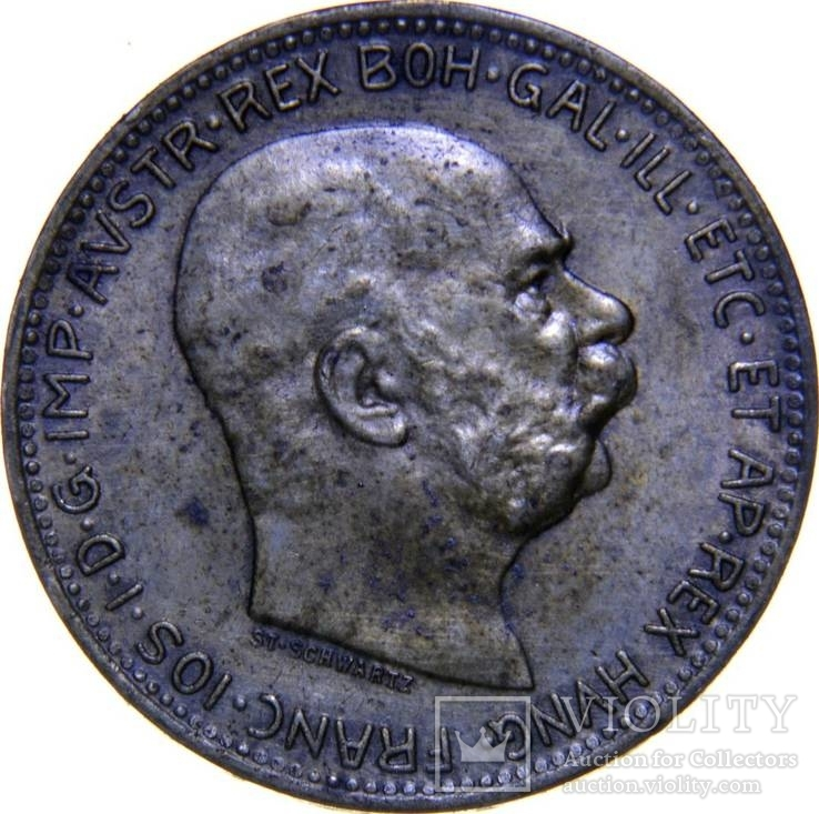 Австрия 1 корона 1916 серебро BU