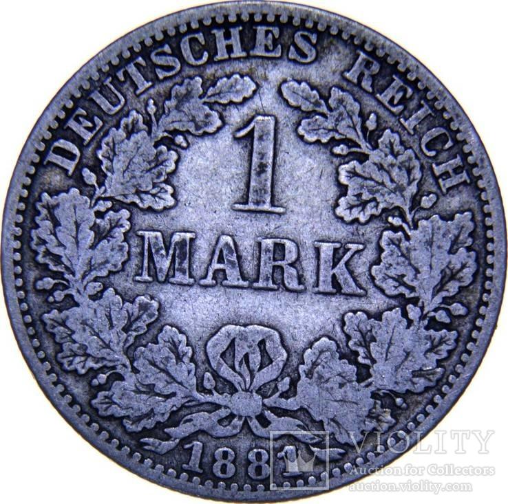 Германия 1 марка 1881 A