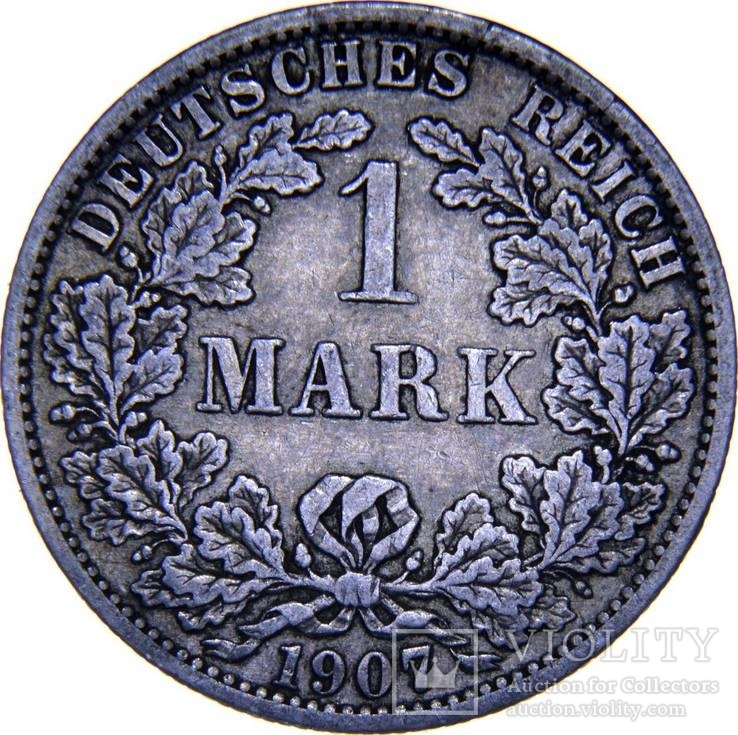 Германия 1 марка 1907 А