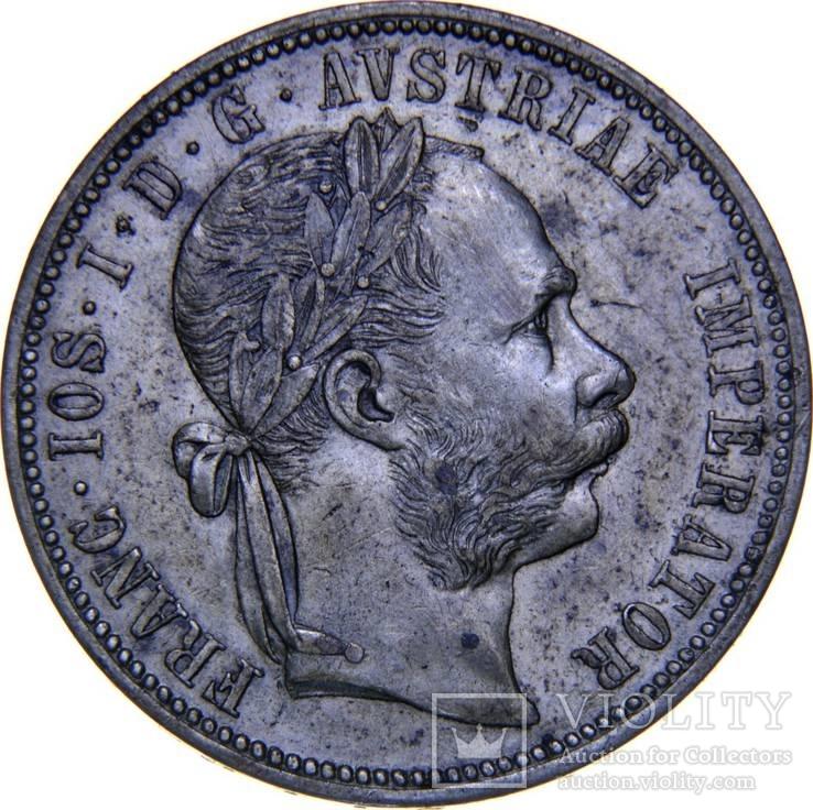 Австрия 1 флорин 1882 года BU
