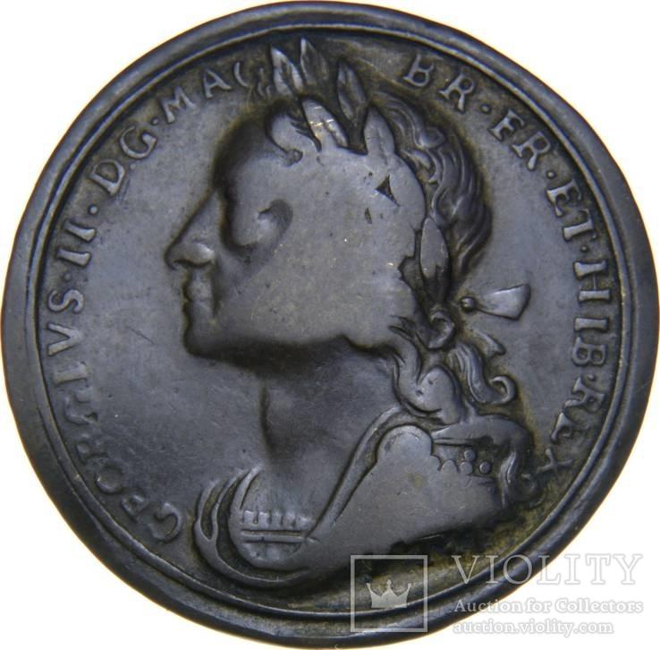 Англия фартинг Коронация Георга II 1727года