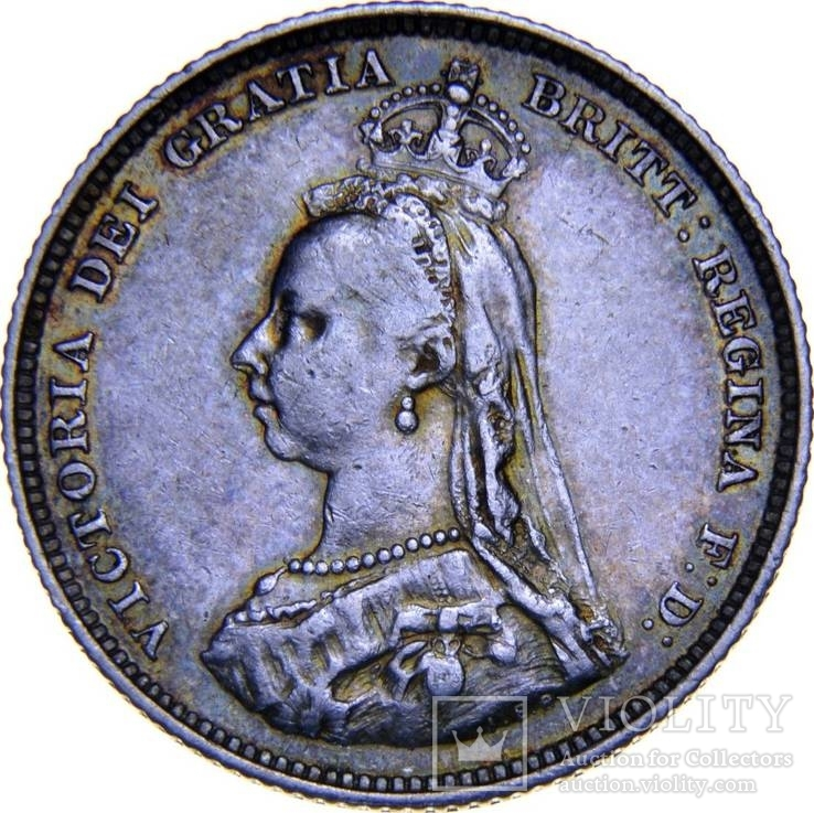 Англия 1 шиллинг 1887
