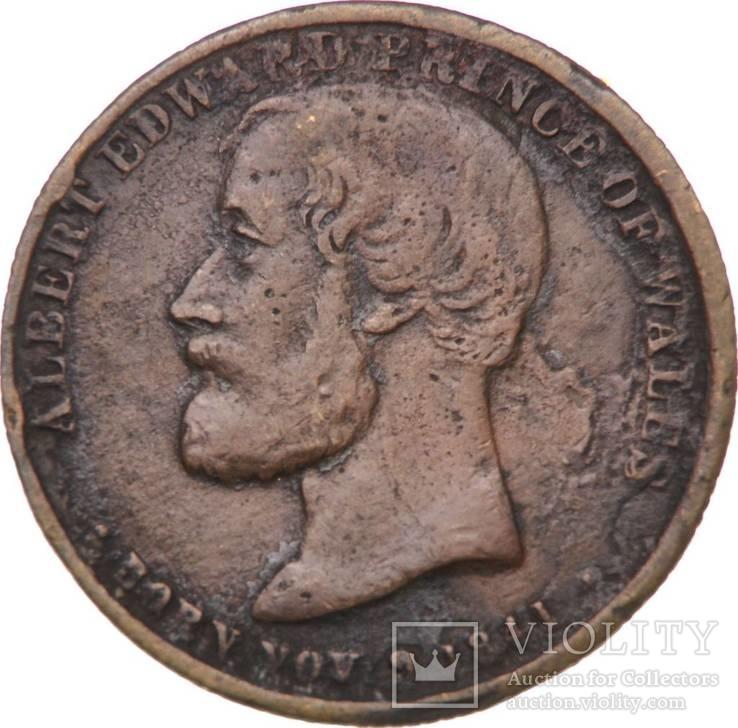 Англия памятный фартинг Принца Альберта 1872