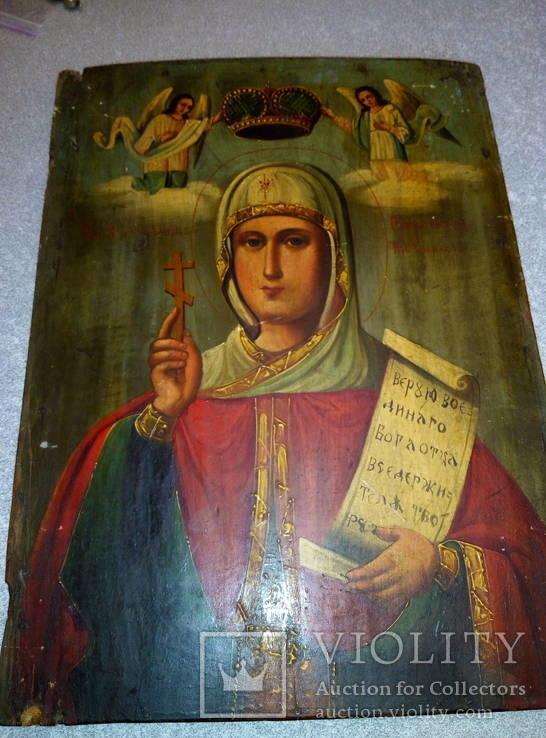 Икона Параскевы Пятницы. Размер 35-25.5-2 см.