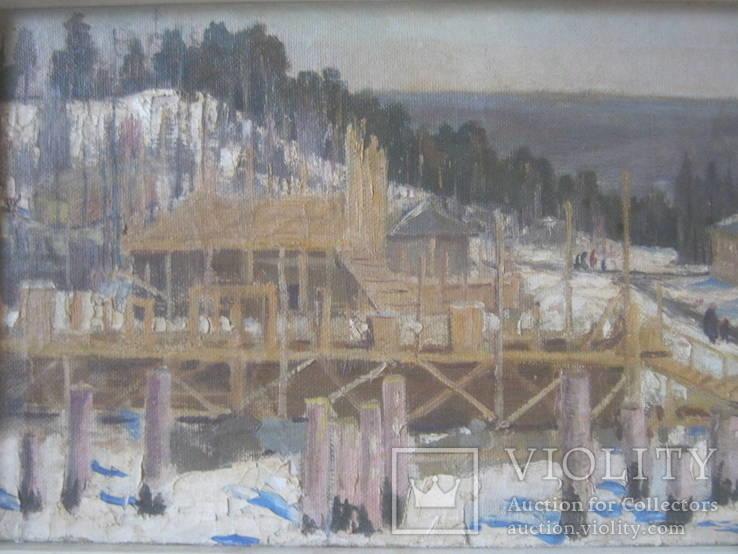 Лесной пейзаж,х-к Тюруханов., фото №2