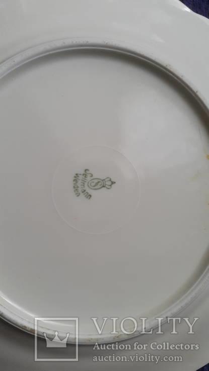 Старая фарфоровая тарелка Германия, фото №4