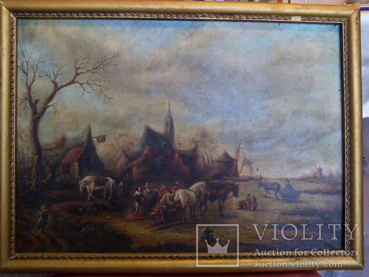 Картина в раме,пейзаж,полотно, масло., фото №2