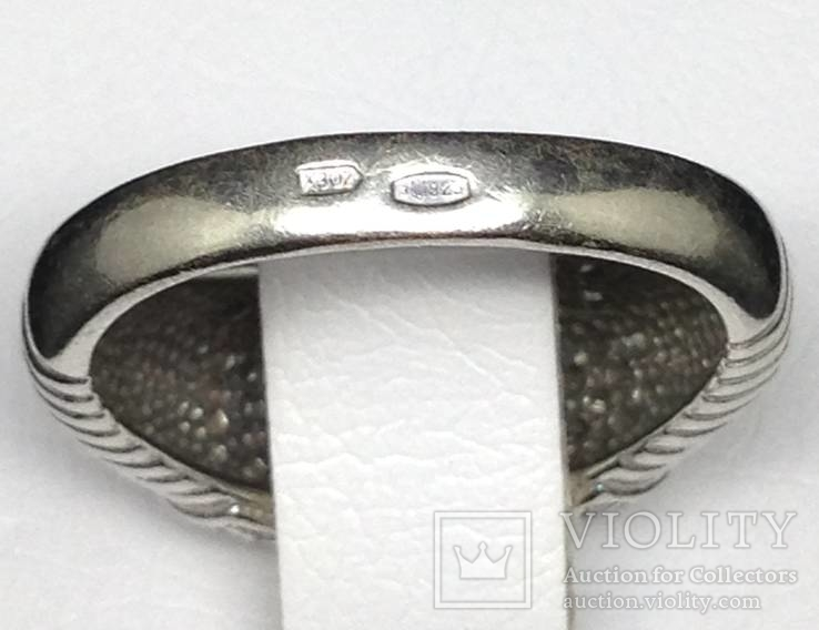 Кольцо, цирконы, фото №7