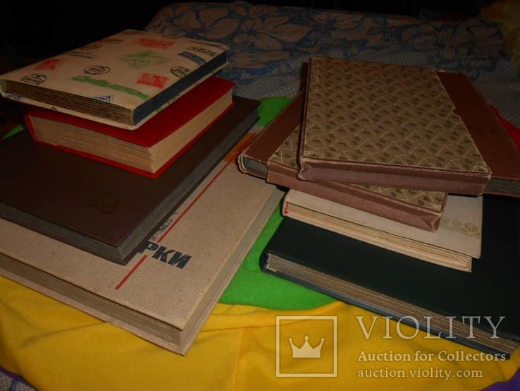 8 альбомов почтовых марок 4000 тыс.с 1940 по 1990