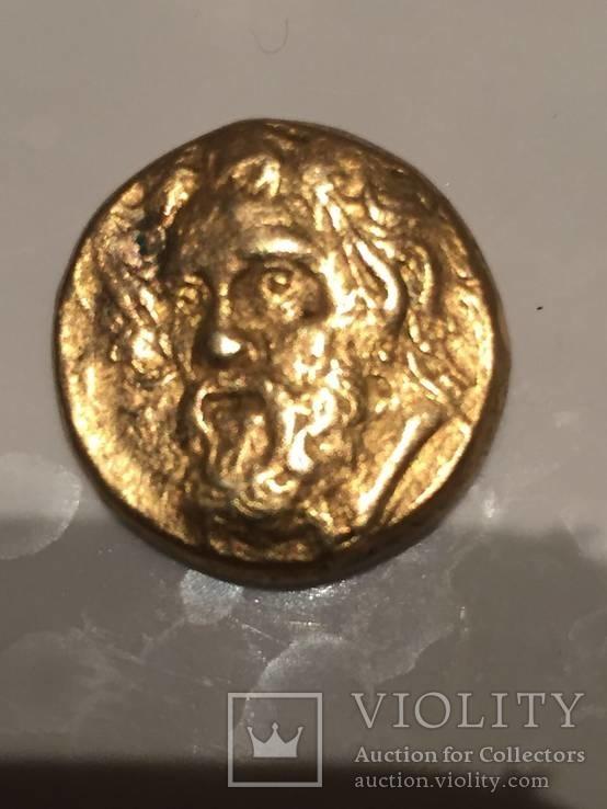 Статер, Сатир Пантикапей 4 век.до н.э. Подражание.