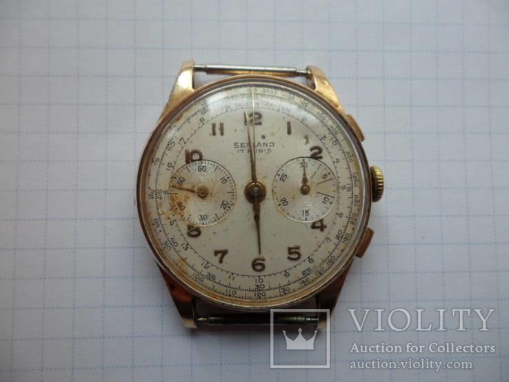 Часы хронограф Seeland Швейцария золото 750 (18К)