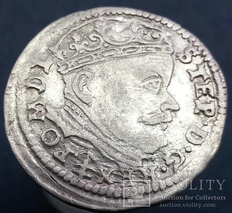 Трояк 1586 р. м.д. Вільно, Лев Сапега (Ігер V.86.2.a (R))