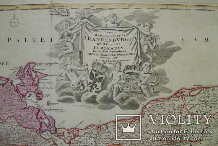 Карта Померания, Бранденбург 1740 год оригинал