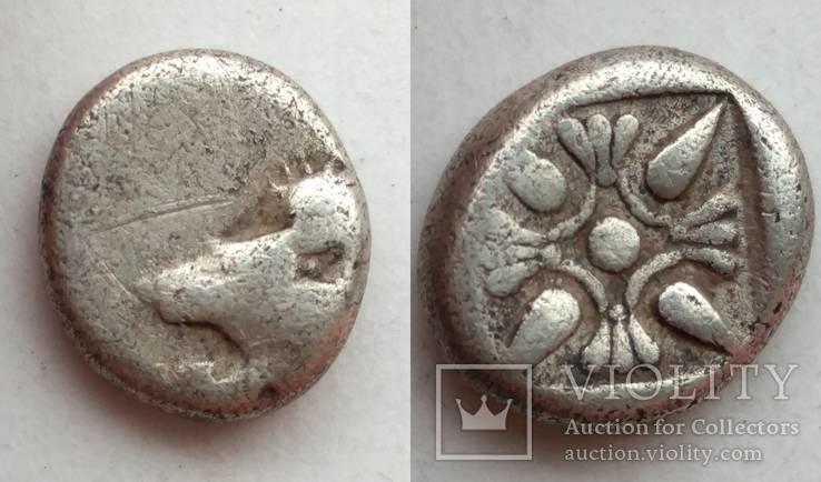Диобол Ionia Miletos 525-475 гг до н.э. (69_35)