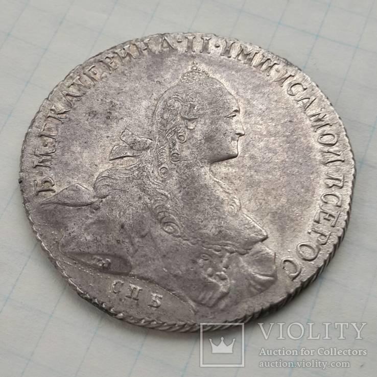 Рубль 1766 г. СПБ-ЯИ-Т.И.
