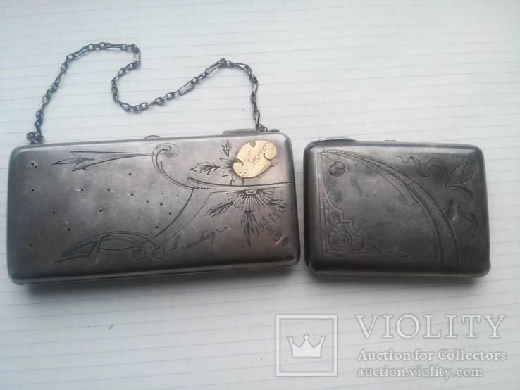 Старые серебряные кошельки 84 пробы
