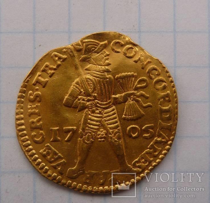 Золотий Дукат 1705 р.  Голландія