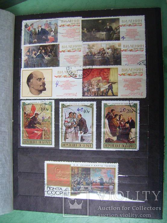 Марки СССР и зарубежных стран (2 альбома 370 шт.)