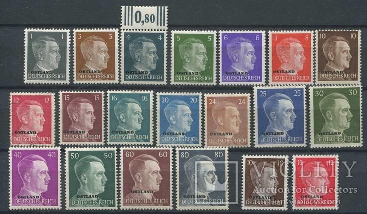 1941-43 Рейх  оккупация Прибалтики полная серия Ostland