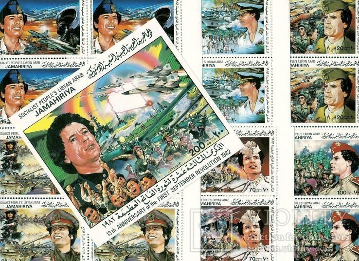 Ливийская Джамахирия 1982 13-я годовщина революции Муаммар Каддафи серия в квартах MNH **