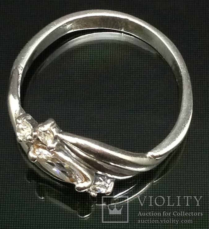 Кольцо, цирконы, фото №2