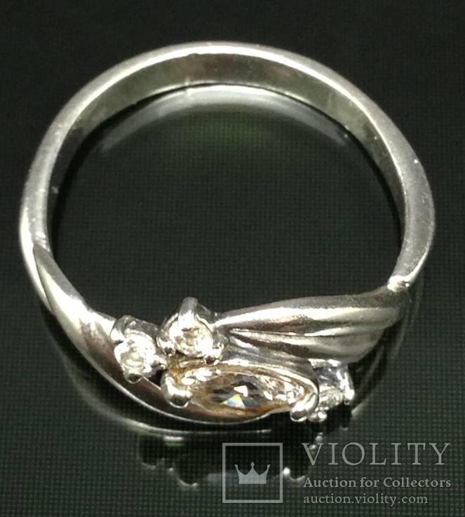 Кольцо, цирконы, фото №3