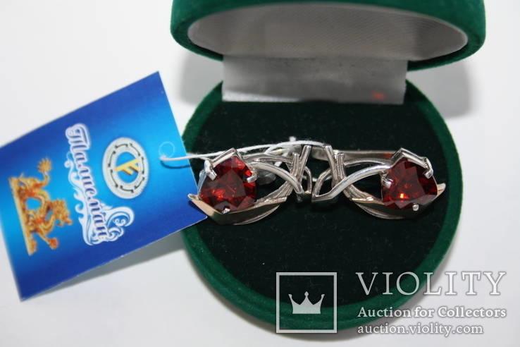 Новые серебряные серьги с золотыми накладкими, фото №4