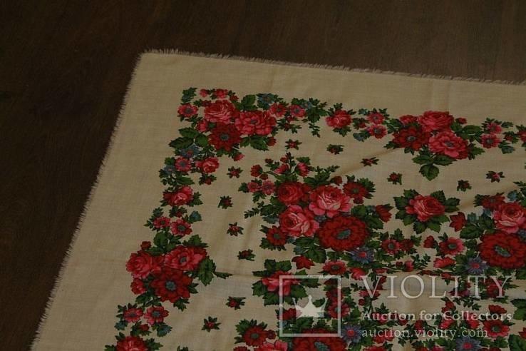 Шерстяной старинный платок №112, фото №3